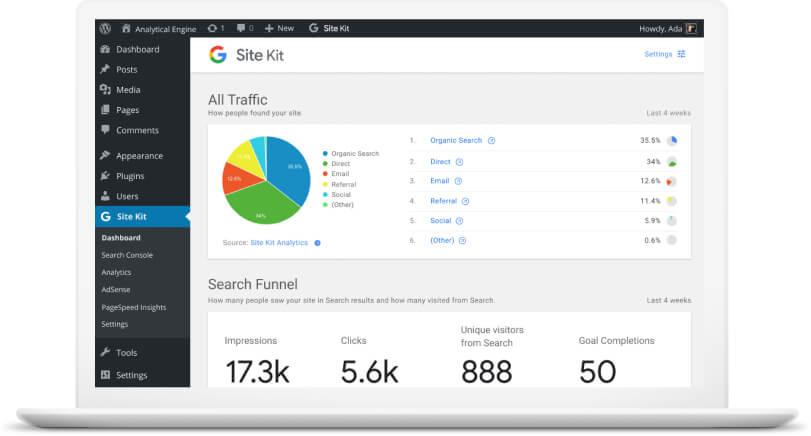 Google Tool to WordPress
