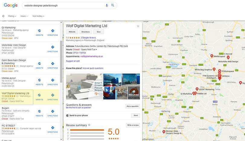 Google My Business optimization service in Peterborough